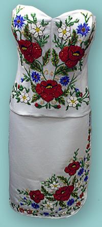 Вышивка бисером костюма
