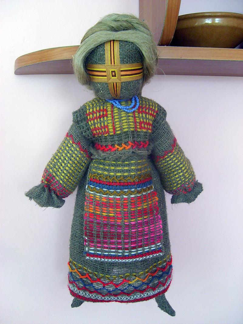 Кукла с волосами из ниток своими руками