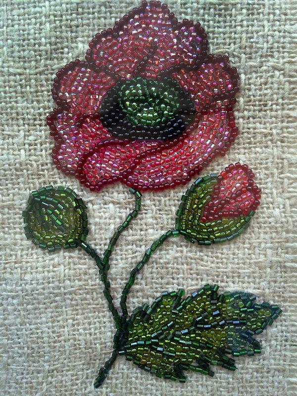 Цветок бисер вышивка бисером 508