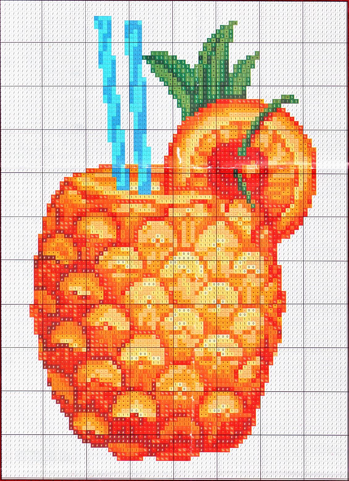 Схемы вышивки ананас