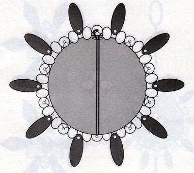 Новогодний шар из бисера, рисунок 2.