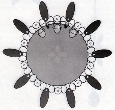 Новогодний шар из бисера, рисунок 3.