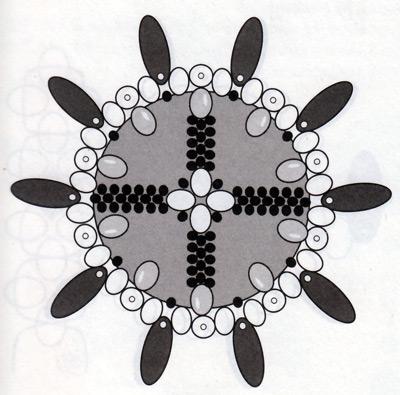 Новогодний шар из бисера, рисунок 5.