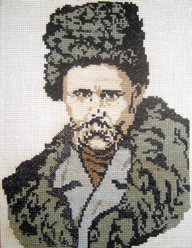 Рушник, Вышивание – портрет Т.